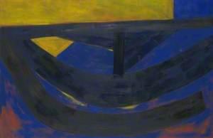June Painting, Ultramarine and Yellow
