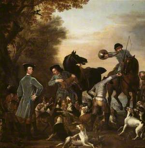 Viscount Weymouth's Hunt: Thomas, 2nd Viscount Weymouth, with a Black Page and other Huntsmen at the Kill