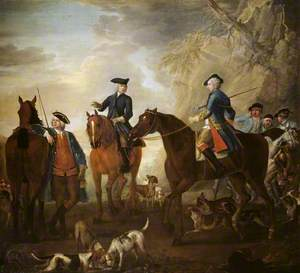 Viscount Weymouth's Hunt: Mr Jackson, the Hon. Henry Villiers and the Hon. Thomas Villiers, with Hunters and Hounds