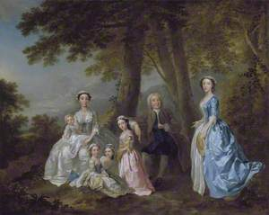Samuel Richardson, the Novelist (1684-1761), Seated, Surrounded by his Second Family 1740-41