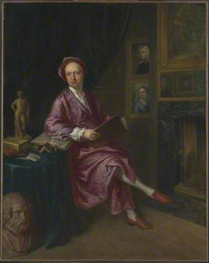 Portrait of the Artist's Son, Jonathan Richardson the Younger, in his Study