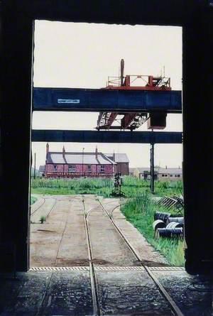 Empty Stockyard, Hawthorn Leslie's, Hebburn, South Tyneside
