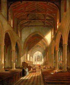 Interior of St Peter's Church, Newcastle upon Tyne