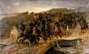 French Artillery Crossing the Flooded Aisne and Saving the Guns