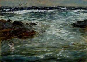 Sea Study at Portscatho, Cornwall