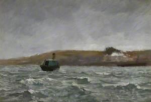 Seascape with a Tug