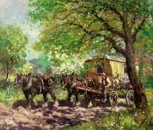 Two Horses and a Caravan