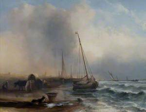 Seascape with Boats and Figures