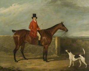 John Hall Kent in Hunting Attire Seated on a Horse