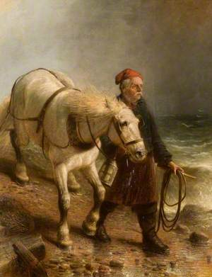 Man with Horse and Lantern