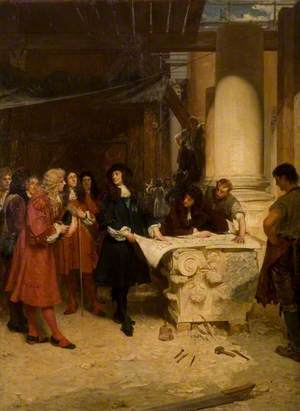 St Paul's, the King's Visit to Wren