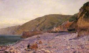 Among the Shingle at Clovelly, North Devon