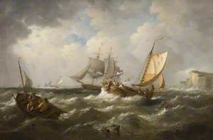 Seascape with French Shipping