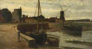 Harbour with Fishing Cobles