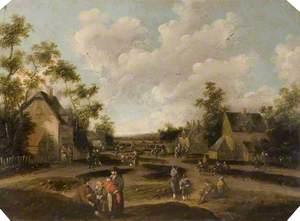 Dutch Village Scene