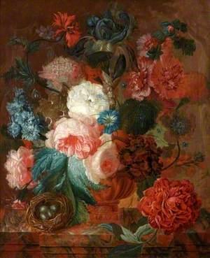 Flowers and Bird's Nest