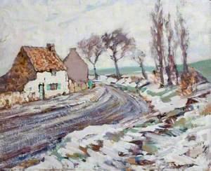 Cottage Lane in Winter