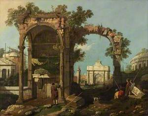 Ruins and Figures, Outskirts of Rome near the Tomb of Cecilia Metella