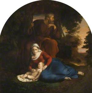 Holy Family, Rest on the Flight into Egypt