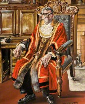 Portrait of the Mayor of Gateshead, 1965 (Robert Ninian Baptist)