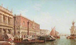 The Doge's Palace, Venice, with the Columns of Saint Mark and Saint Theodore