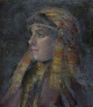Woman in Eastern Headdress