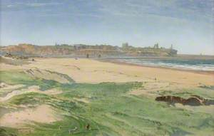 Shields Beach and Tynemouth Castle