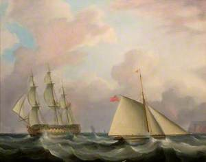 East Indiaman and Cutter