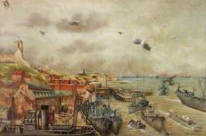 Wartime Scene at the Mouth of the Tyne