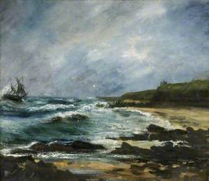 The Wreck of the Russian Ketch 'Julerneck' off Marsden Cliffs, 1901