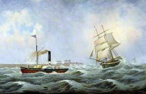 The Brig 'Brotherly Love' and Tug 'William'