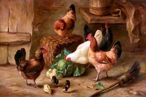 Hens with Their Young