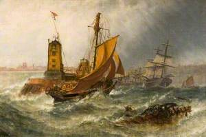 Sunderland, 1855, Morning after a Heavy South-Eastern Gale