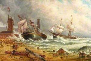 Wreck in Sunderland Harbour
