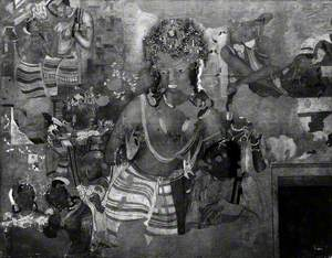 Copy of Painting inside the Caves of Ajanta