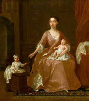 Portrait of an Unknown Woman and Two Children