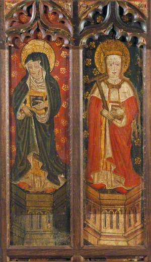 Nun (left panel) and Saint Helen (right panel )
