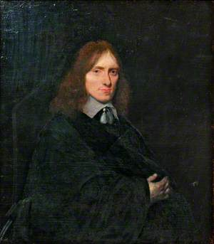 Portrait of a Man in a Black Dress