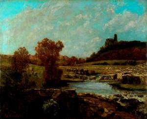 Landscape, with the Chatel St Denis, Scey-en-Varais
