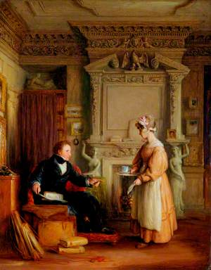 Interior with John Sheepshanks (1787–1863)