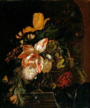 Flowers in a Dutch Vase