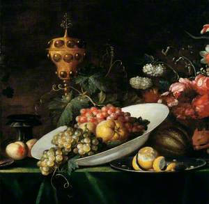 Fruit Piece with Covered Gilt Goblet