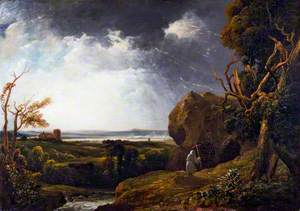 Landscape with Lightning and a Hermit