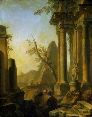 Classical Ruins with Soldiers