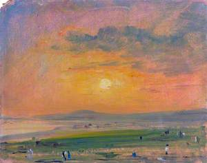 Coast Scene at Brighton, Evening