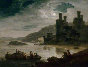 Conway Castle: Moonlight Effect
