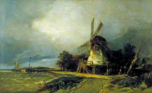 Coast Scene with a Windmill