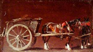 Study of a Cart with Two Horses