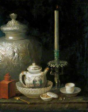 Teapot, Ginger Jar and Slave Candlestick