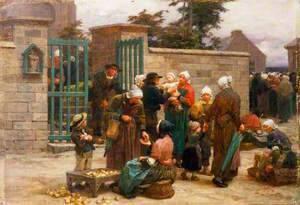 Le Pardon de Plourin, Brittany: Peasants Leaving Church